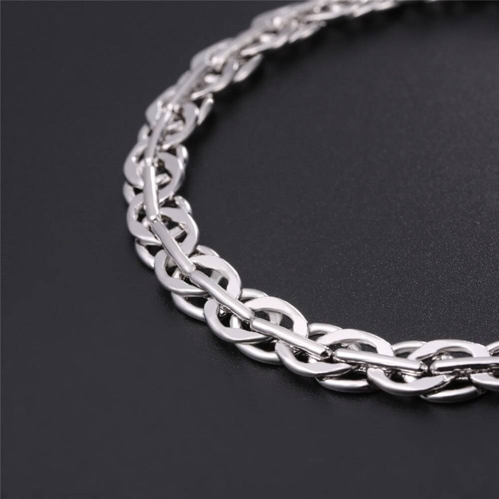 Viking Style Braided Chain Link Men's Bracelet Bracelets New In